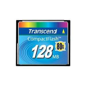 TRANSCEND 128MB CF CARD (80X)