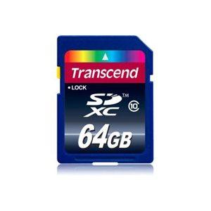 Carte memoire 64GB SDXC Classe 10 (Premium) de Transcend