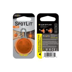 SPOTLIT ECO PACKAGING - ORANGE PLASTIC/WHITE LED