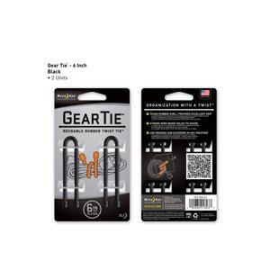 Gear Tie de 6 pouces noir de Nite Ize (2 unités)