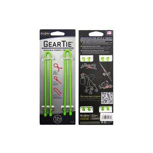 Gear Tie de 12 pouces vert lime de Nite Ize (2 unités)