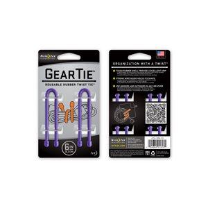 Gear Tie de 6 pouces mauve de Nite Ize (2 unités)
