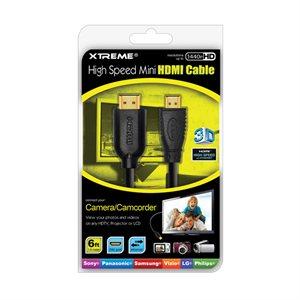 Câble HDMI vers mini HDMI 0,9 m (3 pi) 74003 de Xtreme – Noir