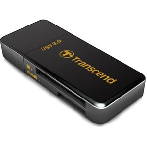 Lecteur de carte Flash Transcend TS-RDF5K USB 3.0 Supporte SDHC (UHS-I), SDXC (UHS-I), microSD, microSDHC (UHS-I), et microSDXC (UHS-I)