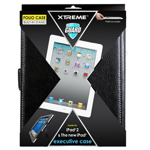 XTREME EXECUTIVE FOLIO IPAD2 BLACK