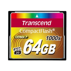 Transcend 64GB Compact Flash Memory Card 1066X Ultra DMA 7