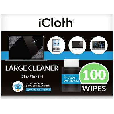 iCloth ® AVIONICS TOUCHSCREEN CLEANING WIPES (100 WIPES)