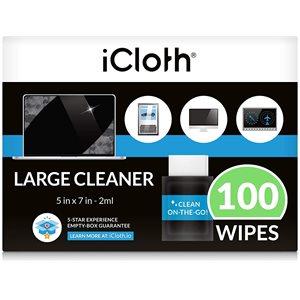 iCloth ® AVIONICS ESSUIE-TOUT NETTOYANT POUR ÉCRANS TACTILE (100 ESSUIE-TOUT)