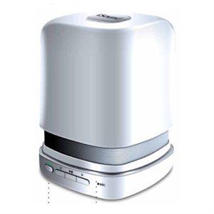 Rechargeable haut-parleur portable et téléphone à haut-parleur de iSound - Blanc