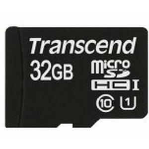 MicroSDHC Classe 10 avec Adaptateur UHS-I 400x (Premium) de 32Go de Transcend