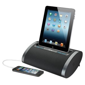 IHOME IDN48 DUAL CHARGING PORTABLE RECHARGEABLE SPEAKER WITH