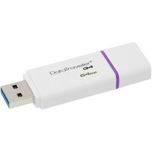 Clé USB DataTraveler Génération 4 de 64 Go de Kingston - Violette
