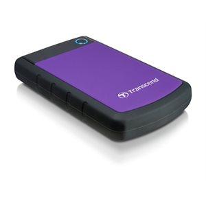 Disque dur externe Transcend de 2TB 2.5'' USB 3.0 Storejet H3P avec finition anti-chocs Mauve