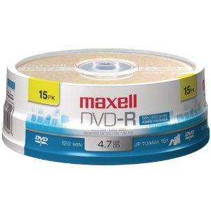 MAXELL DVD-R 4.7 RECORDABLE (SPINDLE CASE) - SPINDLE 15