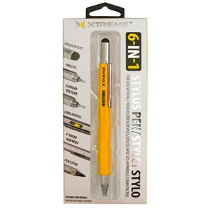 XTREME 6-IN-1 STYLUS PEN - MULTI-TOOL - YELLOW