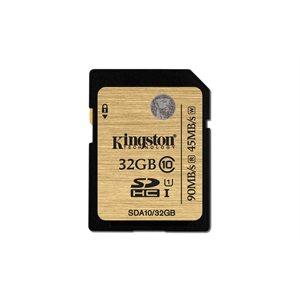 KINGSTON 32GB SDHC CLASS 10 UHS-I 90MB/S R, 45MB/S W FLASH CARD CANADA RETAIL