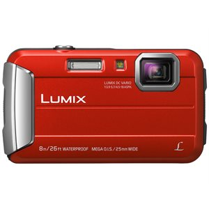 PANASONIC CAMERA DMCTS30R LUMIX RED WATER RES.