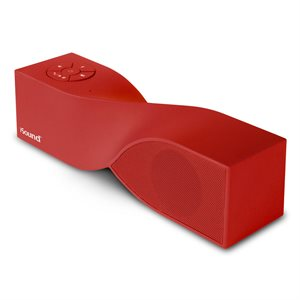 ISOUND6367 - Twist MINI portable bluetooth speaker and speakerphone - Red rubberized