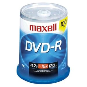 MAXELL DVD+R 4.7 RECORDABLE (SPINDLE CASE) - SPINDLE 100