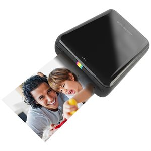 POLAROID ZIP MOBILE PRINTER - BLACK + ZINK 2X3'' MEDIA 20 PACK BUNDLE