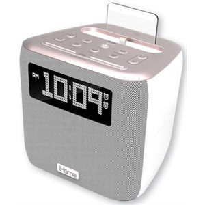 iHOME IPL24GC DUAL ALARM FM CLOCK RADIO WITH LIGHTNING CONNECTOR AND USB CHARGING - GUN METAL