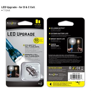 NITEIZE LRB2-07-PR LED UPGRADE FOR MOST C OR D CELL FLASHLIGHTS