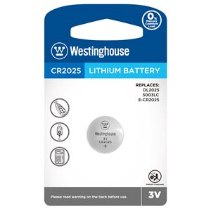 Batterie Westinghouse CR2025 3.0V lithium (button cell)