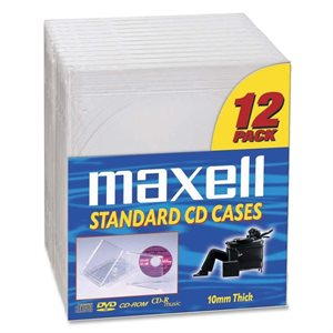 MAXELL CD-360 JEWEL CASE - 12 PACK