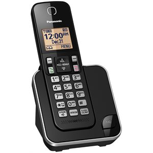 PANASONIC KXTGC380B EXPANDABLE DIGITAL CORDLESS PHONE WITH 1 HANDSET