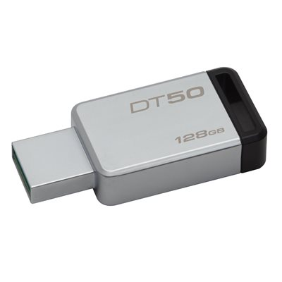 Clé USB 3.0 Data Traveler 50 128GB de Kingston (métal/noir)
