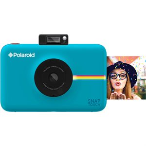 POLAROID SNAP TOUCH INSTANT PRINT DIGITAL CAMERA W/LCD DISPLAY **BLUE** WITH ZINK ZERO INK PRINTING