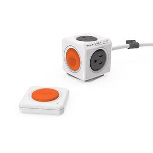 Allocacoc PowerCube Remote Extended avec télécommande, extension électrique télécommandée à 4 prises - câble de 5pi (1,5M)