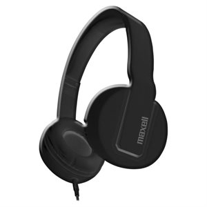 MAXELL 290103 SOLIDS HEADPHONES WITH MIC - BLACK