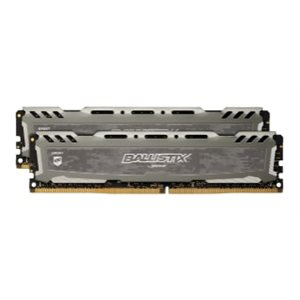 CRUCIAL BALLISTIX SPORT GREY 16GB KIT (8GBX2) DDR4 2400 (PC4-19200) CL16 SR X8 UNBUFF DIMM 288PIN