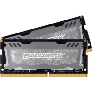 CRUCIAL BALLISTIX SPORT GREY 16GB KIT (8GBX2) DDR4 2400 (PC4-19200) CL16 DR X8 UNBUFF SODIMM 260PIN
