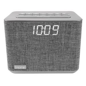 IHOME BLUETOOTH DUAL ALARM FM CLOCK RADIO W/SPEAKERPHONE & USB CHARGING*BILINGUAL*
