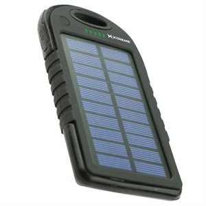 XTREME 5000mAh SOLAR POWERED BATTERY BANKS**BLACK**