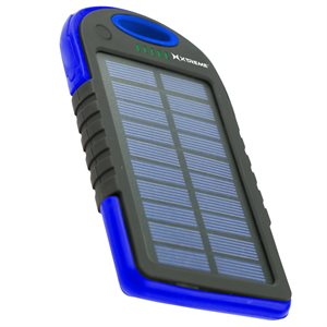 XTREME 5000mAh SOLAR POWERED BATTERY BANKS**BLUE**