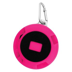 XTREME Sport Wireless Speaker w/Carabiner Hook -PINK
