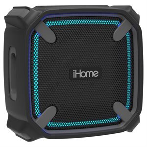 IHOME Portable Waterproof Shockproof Bluetooth Speaker w/Accent Lights
