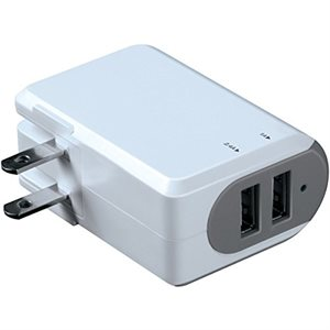 ISOUND 3.4A 2-PORT USB AC ADAPTER 100/240V USB AC Adapter