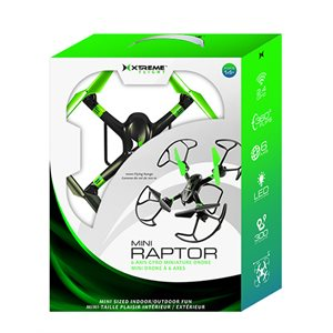 XTREME MINI RAPTOR, 6 AXIS GYRO MINI DRONE - Black