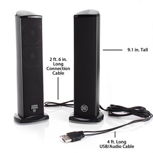 ACCESSORY POWER GOGROOVE SONAVERSE TI FULL-RANGE 2.0-CHANNEL USB POWERED SPEAKERS