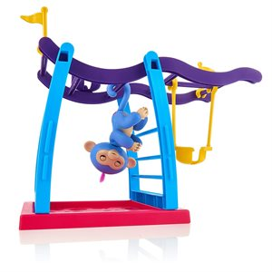 WOWWEE Fingerlings Play Set with 1 Monkey - Monkey Bar/Swing