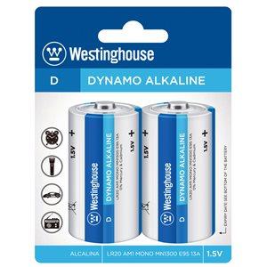 Westinghouse LR20 D Dynamo Alkaline (2pcs blister)