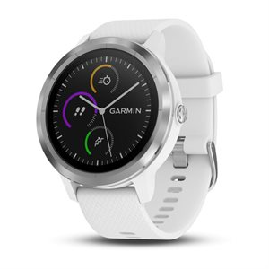 Garmin Vivoactive 3 STEEL WITH WHITE SILICONE