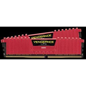 CORSAIR 16GB (KIT OF 2) 2400MHZ DDR4 DIMM 16-16-16-39 VENGEANCE LPX RED HEAT 1.20V