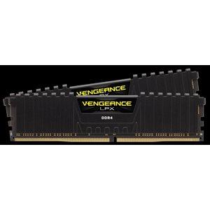 CORSAIR 32GB (KIT OF 2) 2666MHZ DDR4 DIMM 16-18-18-35 VENGEANCE LPX BLACK HEAT 1.2V