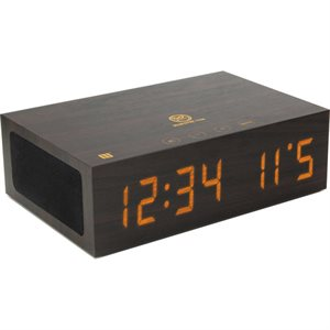 GOGROOVE BLUESYNC TYM (DARK) IS A MODERN BLUETOOTH WIRELESS SPEAKER AND ALARM CLOCK.