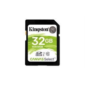 Kingston 32GB SDHC Canvas Select 80R CL10 UHS-I (Canada Retail)